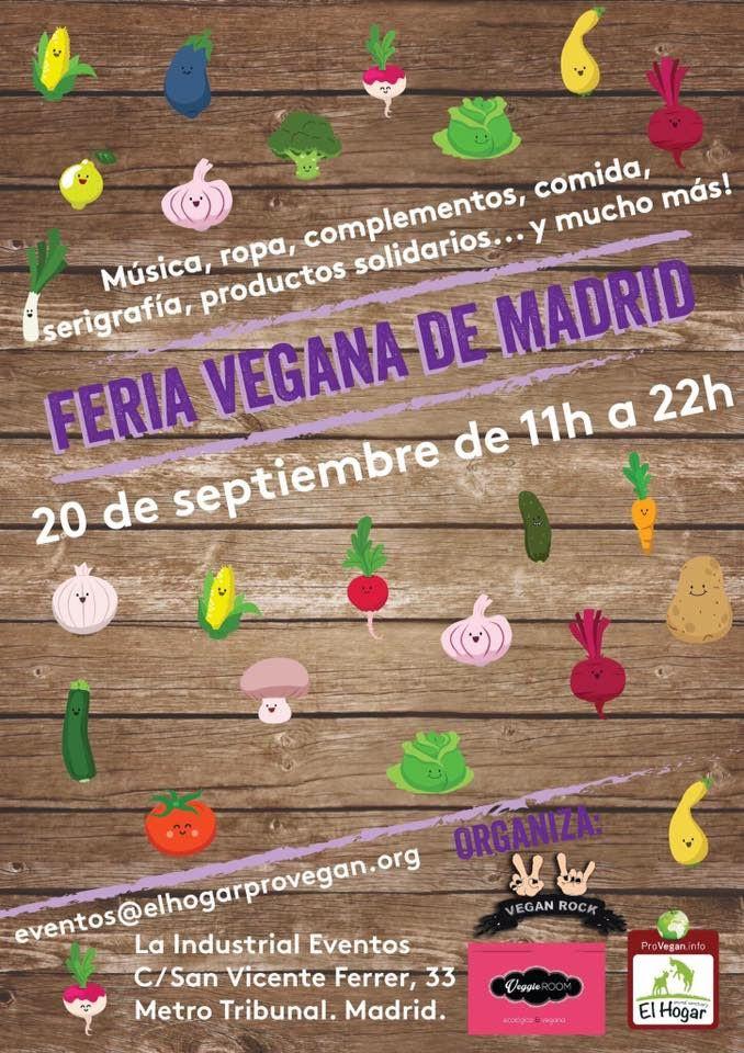 Cartel de la feria vegana de Madrid
