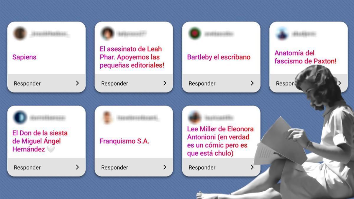 Algunas de las recomendaciones literarias que los seguidores y seguidoras de elDiario.es nos enviaron a Instagram