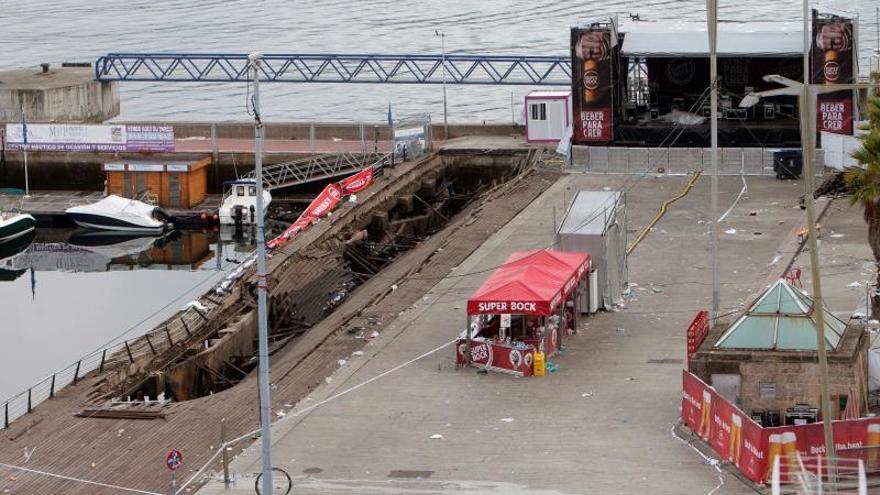 Siete ingresados por el derrumbe en Vigo que pudo deberse a un fallo estructural