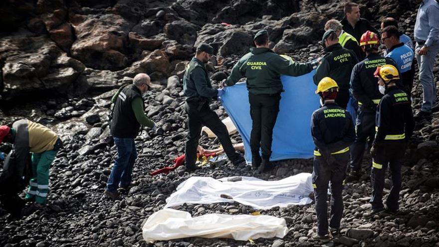 Cadáveres de los tripulantes muertos de una patera que llegó a Lanzarote