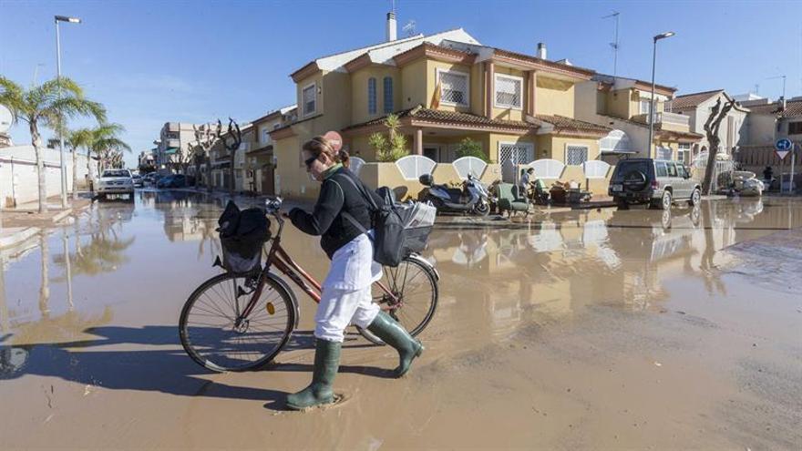 El temporal causó 57 millones en daños, según una primera estimación del Gobierno de Murcia
