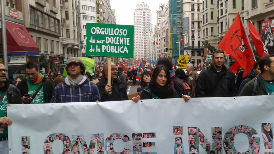 Marcha estatal de protesta contra la LOMCE en Madrid.