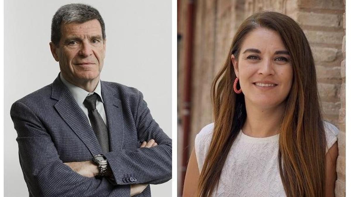 El presidente de la APV, Aurelio Martínez, y la consellera de Emergencia Climática, Mireia Mollà.