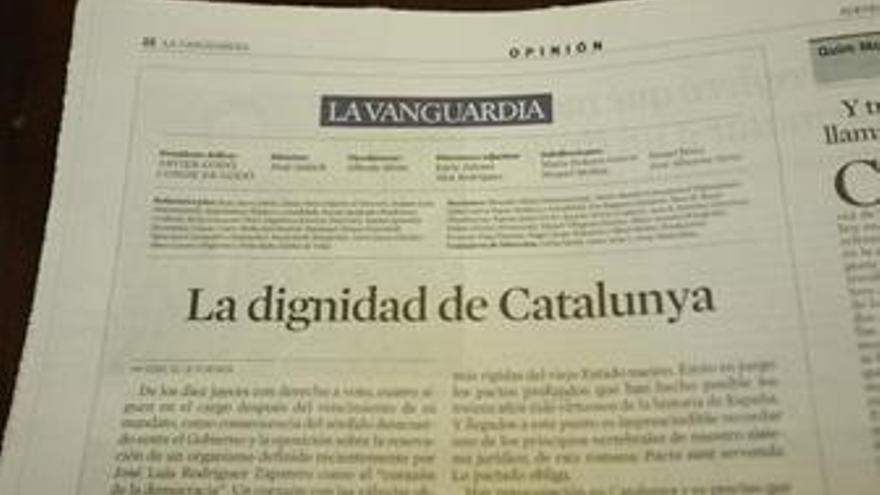 """Los municipios catalanes se suman al """"espíritu"""" del editorial conjunto a favor del Estatut"""
