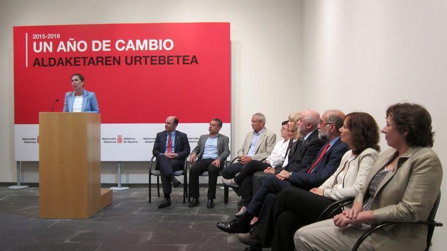 """Barkos destaca la """"estabilidad"""" y """"solidez"""" del Gobierno de Navarra en su primer año, en el que """"ha habido errores"""""""