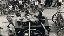Entierro del general Balmes, el 17 de julio de 1936