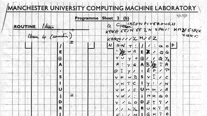 Uno de los últimos programas de Alan Turing