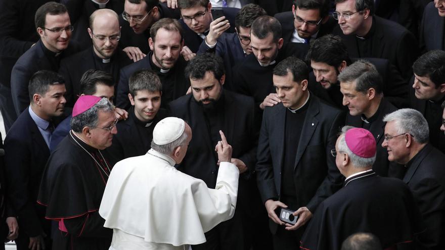 El papa Francisco durante la audiencia semanal general este miércoles en el Vaticano.