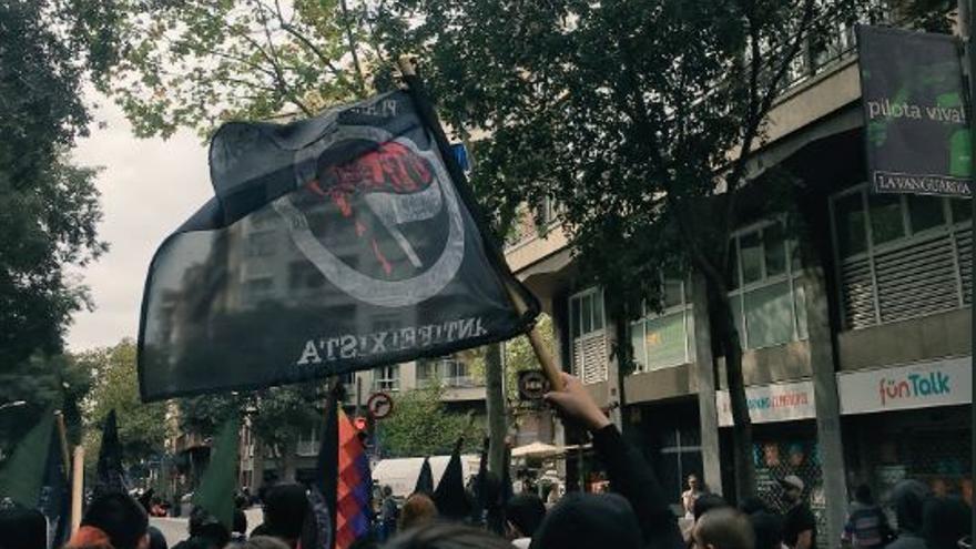 Manifestación antifascista en Barcelona. Twitter Plataforma Antifeixista de Barcelona