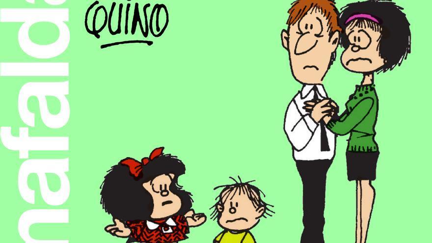 Portada del recopilatorio 'Mafalda. En esta familia no hay jefes'. Editorial Lumen.
