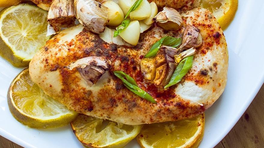 Pollo al limón y lima