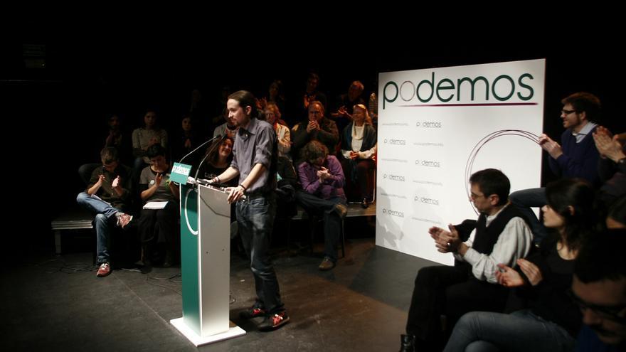 Pablo Iglesias en la presentación de Podemos / EP