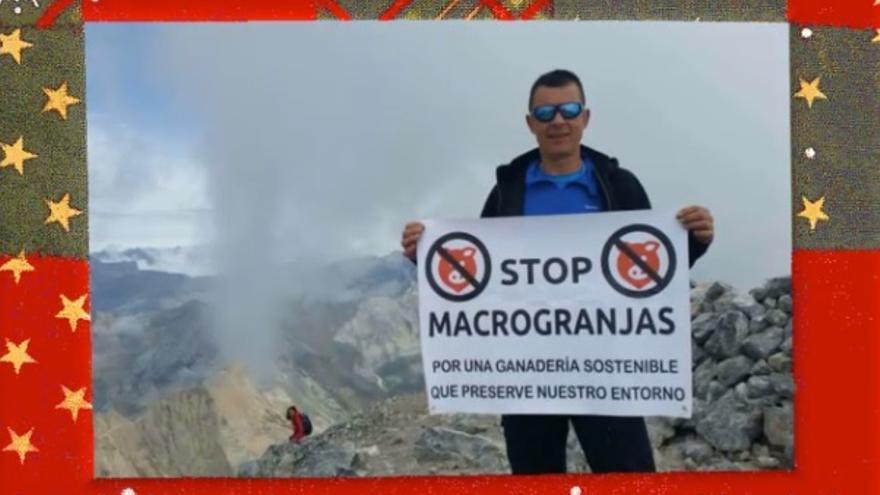 Una de las imágenes de 'Los guarrinaldos' de la Plataforma Serranía Limpia y Viva de Cuenca