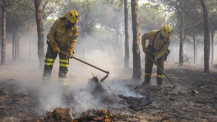 """El informe por el incendio de Moguer afirma que la carbonería intentó con """"maquinaria pesada ocultar evidencias"""""""