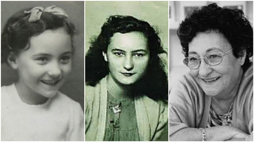 Tres fotografías de Francisca Aguirre, en su niñez, juventud y madurez