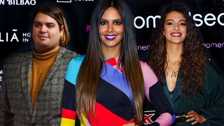Brays Efe, Cristina Pedroche y Ana Guerra, en sendas fotos de archivo