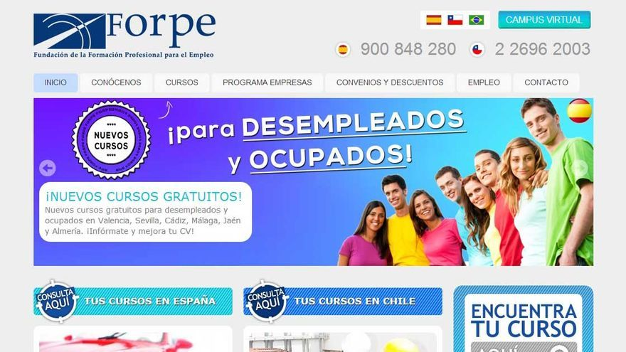 La Fundación de la Formación Profesional para el Empleo, presidida por Ojeda, fue una de las entidades beneficiarias de las subvenciones.