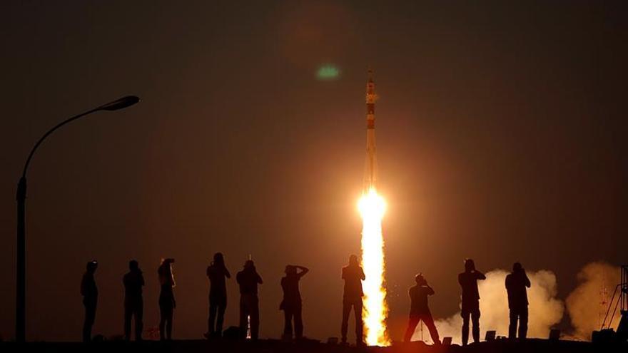 La nave tripulada rusa Soyuz MS-05 despega rumbo a la EEI