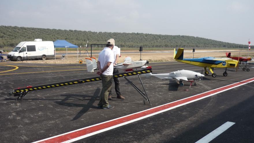 Algunos de los aparatos que han participado en la exhibición aérea inaugural