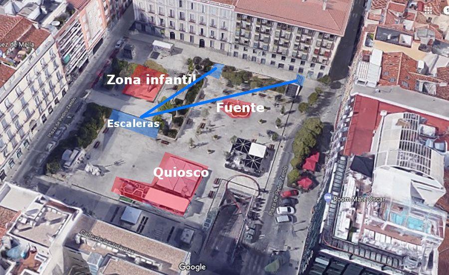 Distribución actual de la Plaza de Pedro Zerolo | GOOGLE