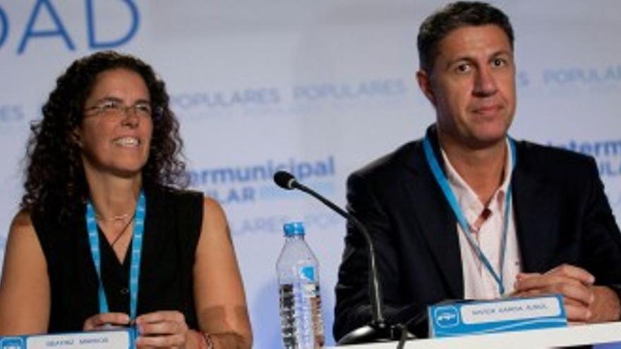 Beatriz Marcos, con Xavier García Albiol