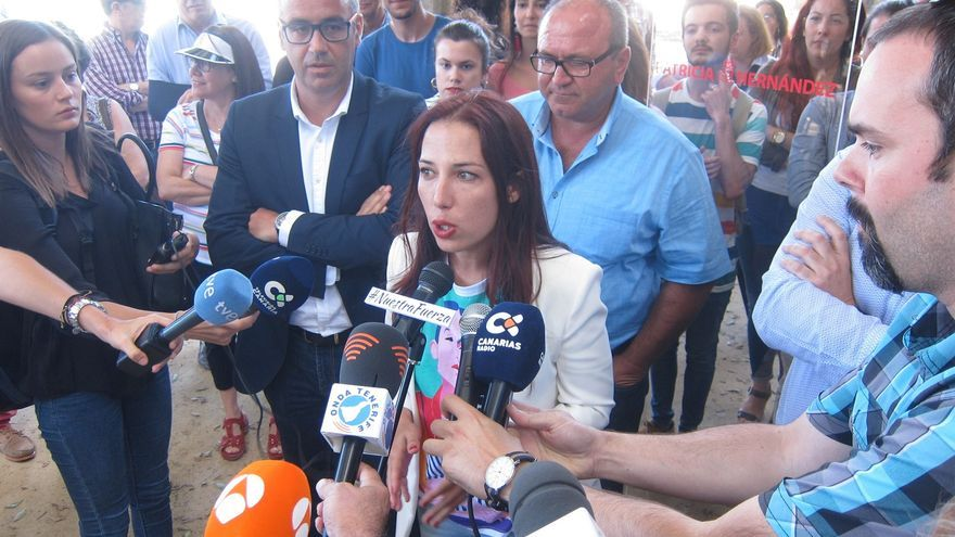 La aspirante a la Secretaría General del PSOE canario, Patricia Hernández oficializa su candidatura