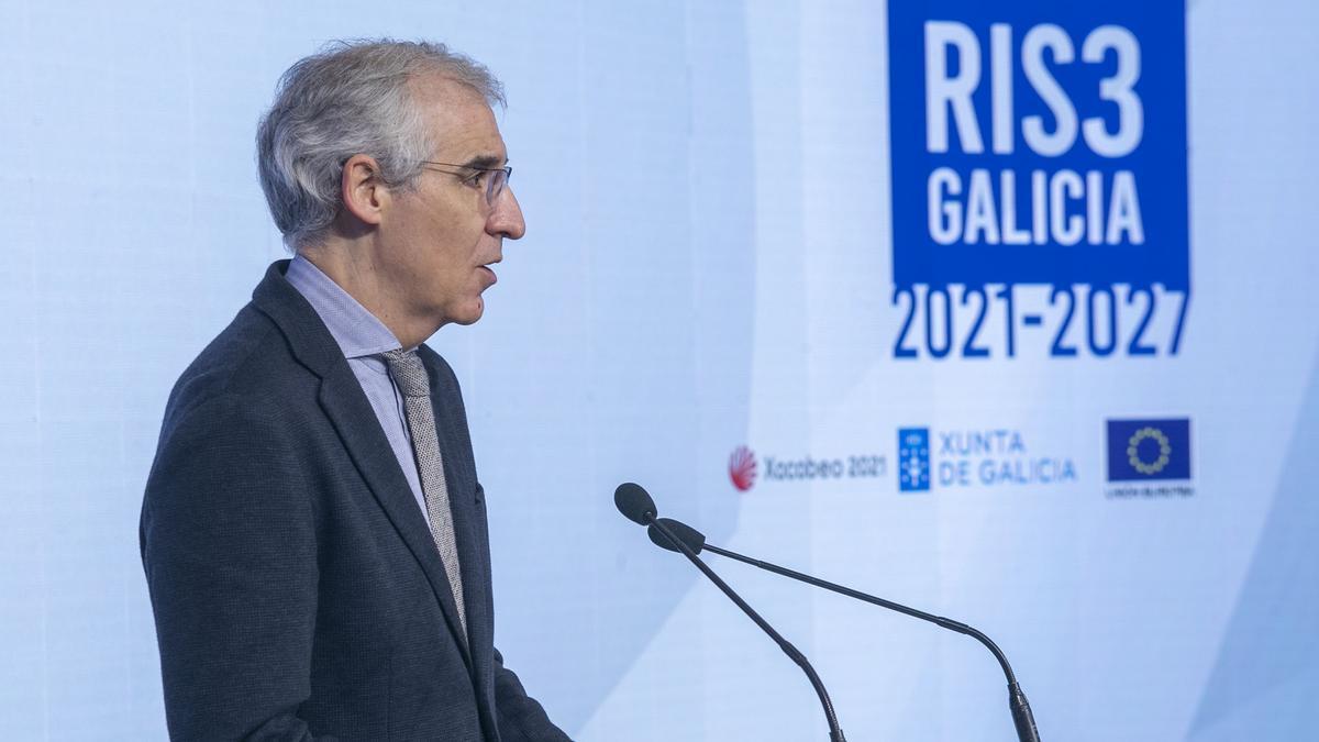 El vicepresidente segundo y conselleiro de Economía, Francisco Conde, en una foto de archivo durante un acto.