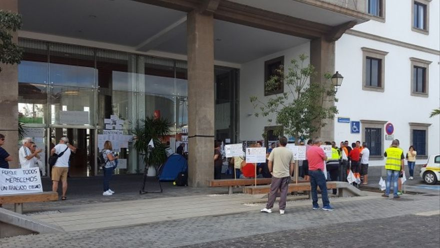 Huelga de hambre de un agente de la Policía Portuaria de Las Palmas