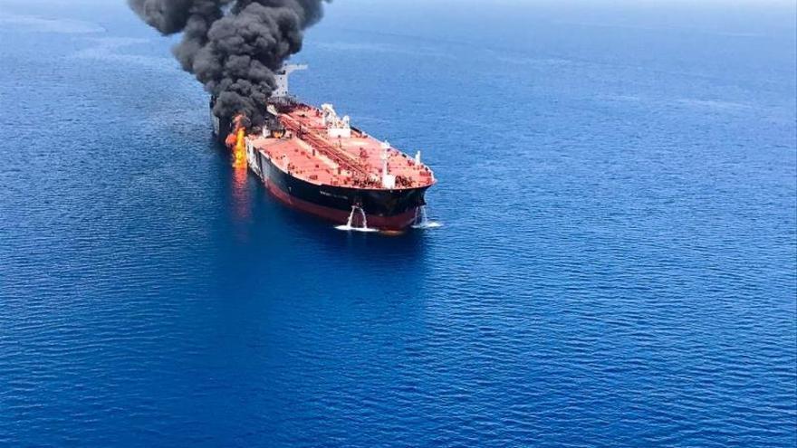 Imagen de uno de los cargueros atacados este jueves en el Estrecho de Ormuz.