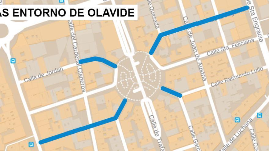 Calles que serán remodeladas en el entorno de Olavide | SOMOS CHAMBERÍ
