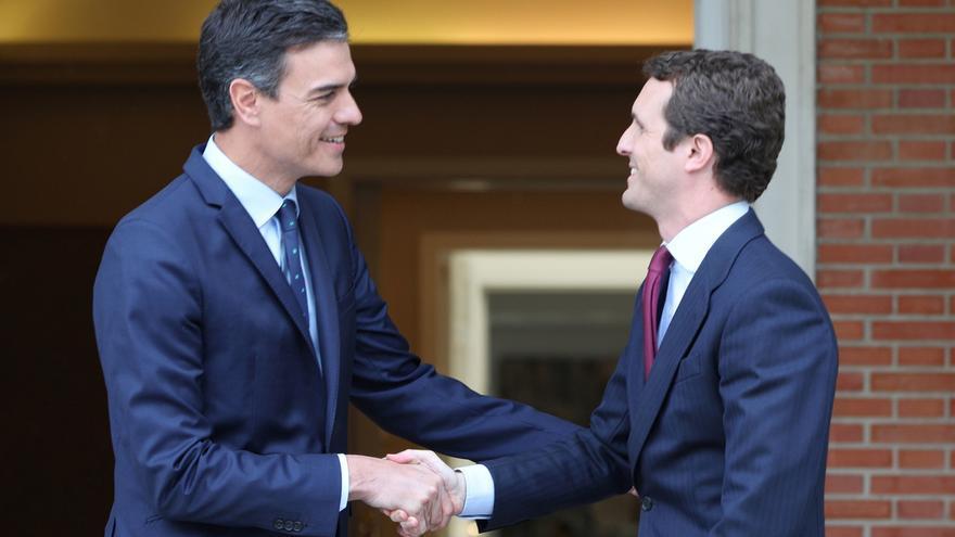 Sánchez buscará al PP en temas de Estado y acuerda con Casado una comunicación permanente sobre Cataluña