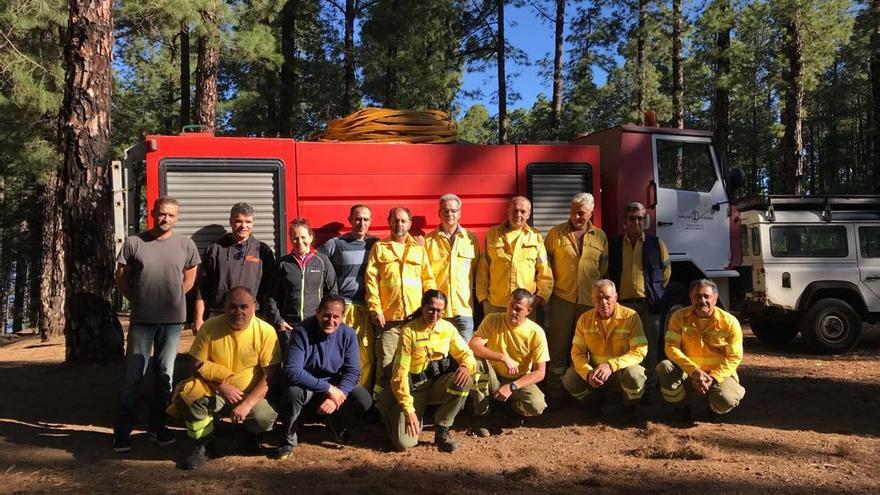 En la imagen, el grupo de voluntarios de Tijarafe.