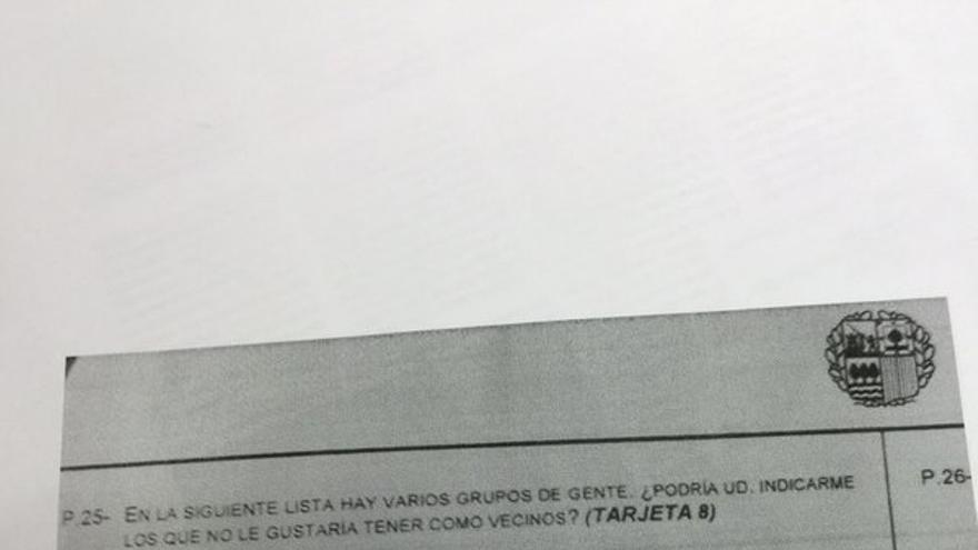 En la imagen, parte del cuestionario retirado por el Gobierno vasco