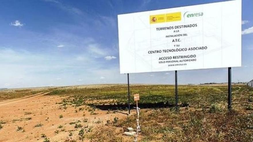 Terrenos sobre los que se asentaría el silo nuclear