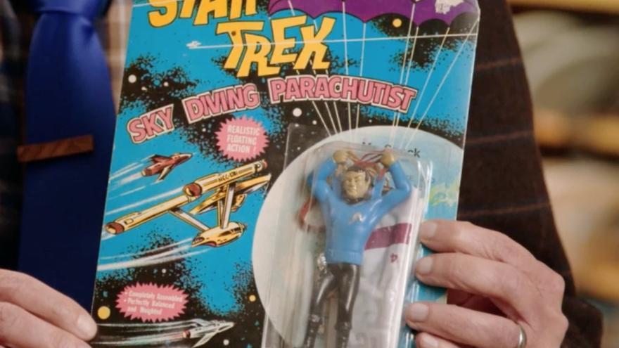 Spock con paracaídas, una absurda pieza de coleccionismo