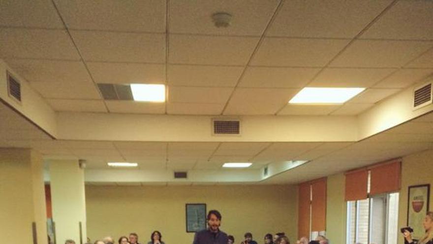 Jaime Paulino, secretario general de Podemos Valencia, en la asamblea del partido. / Podemos