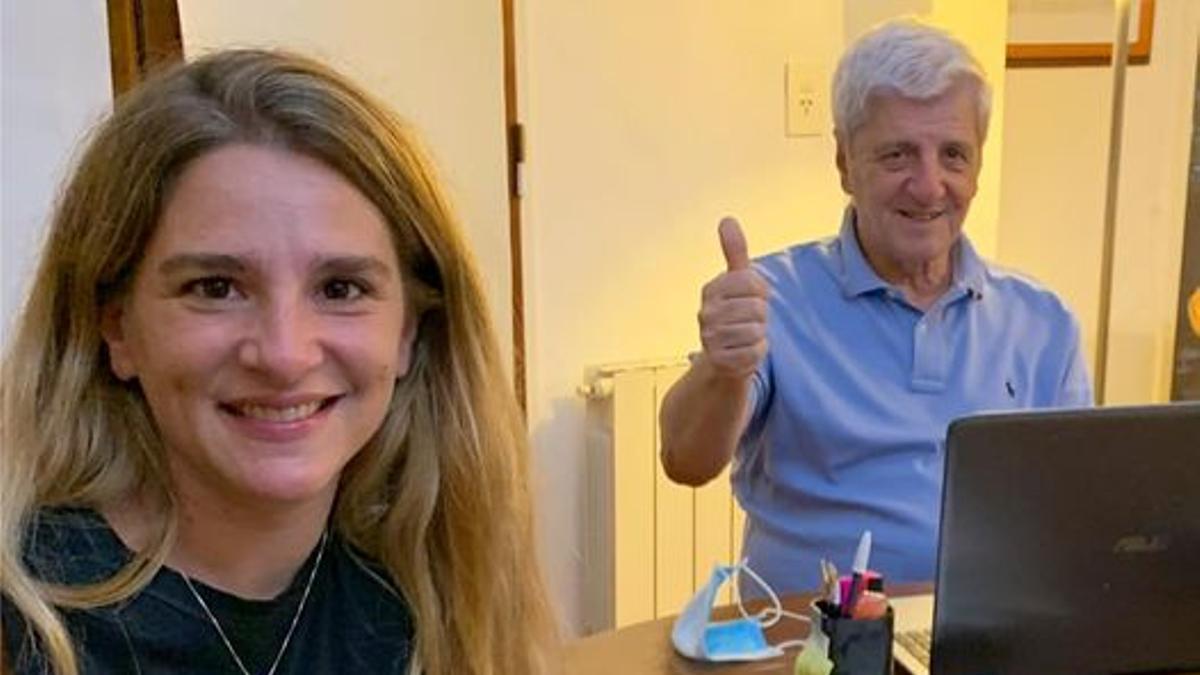 María Eva Andreotti y su padre, Luis Andreotti, ex intendente de San Fernando.