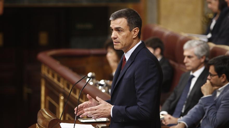Finaliza la primera parte de la sesión tras casi dos horas de discurso de Sánchez