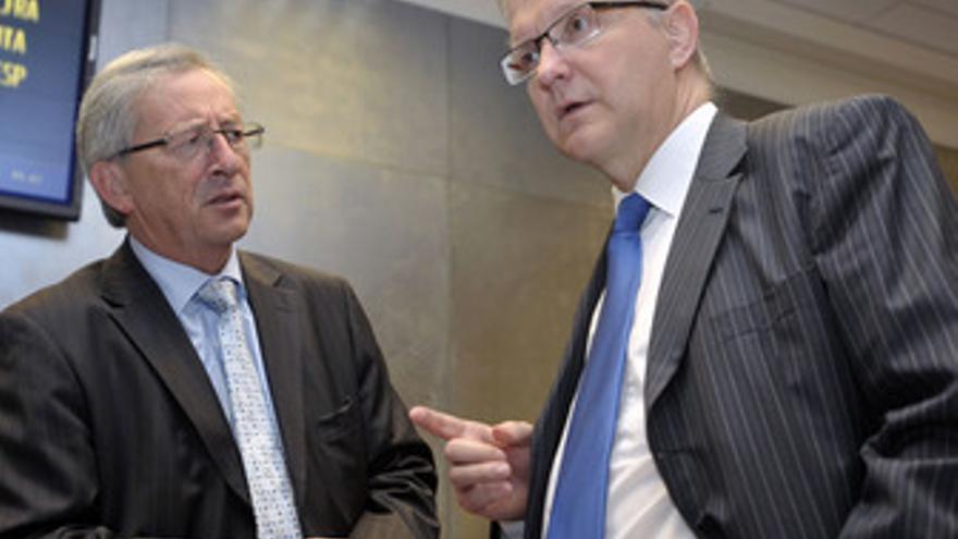 Juncker y Rehn en Bruselas