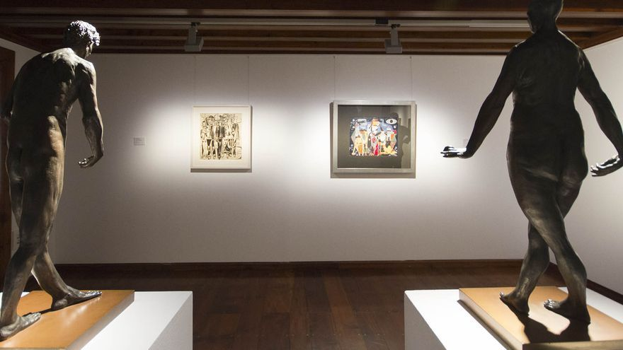 La exposición 'Identidad', inaugurada este viernes en el Espacio Cultural La Palma, en la imagen, está conformada por un total de 25 obras.