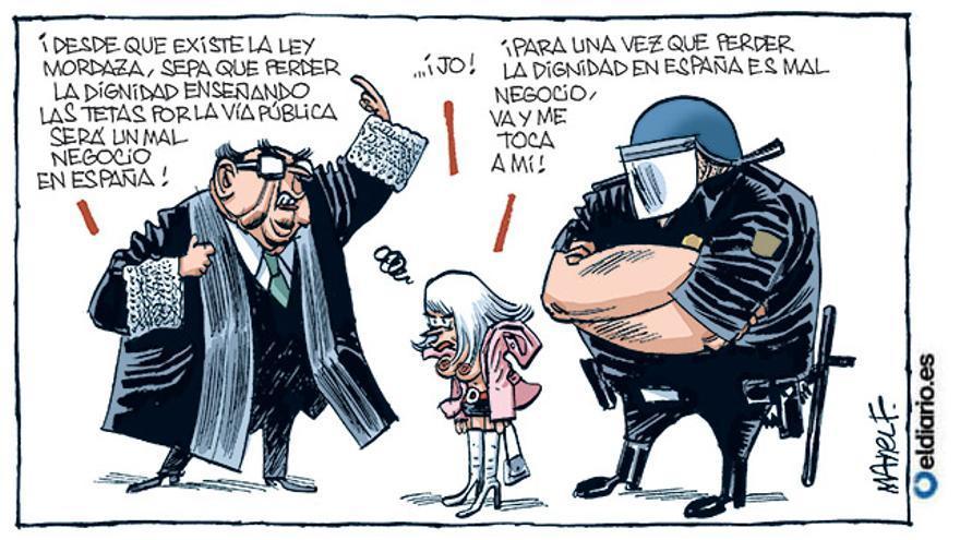 Aplicando la Ley Mordaza