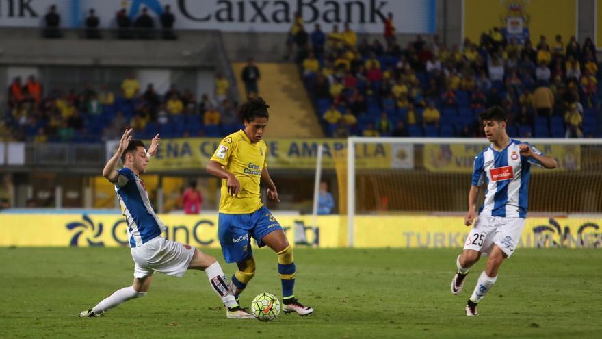 Imágenes del partido entre la UD Las Palmas y el Espanyol. (Alejandro Ramos).