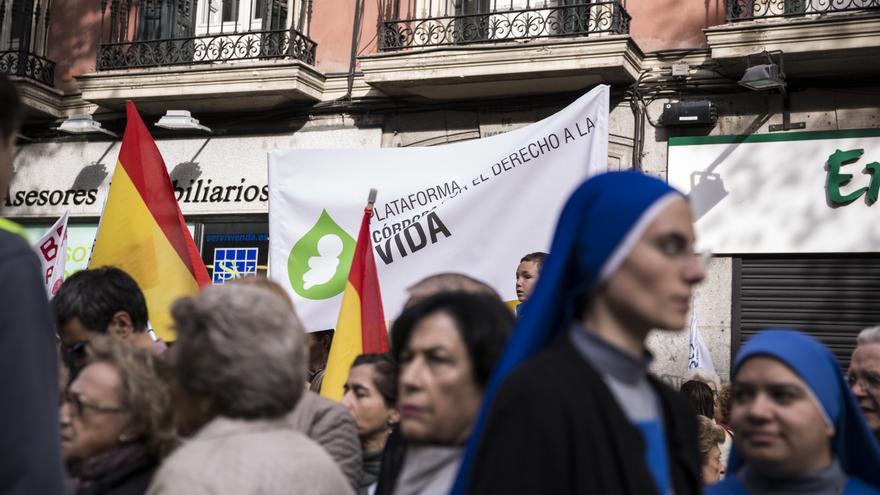 Aunque la Conferencia Episcopal anunció que no participaría como institución en la marcha, sí ha contado con representación del colectivo religioso.