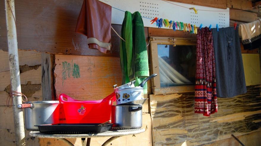 Utensilios de cocina de una familia de El Gallinero