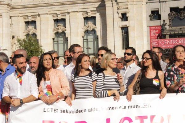 Parte de la representación del PP en la cabecera de la manifestación del World Pride 2017 | Somos Chueca