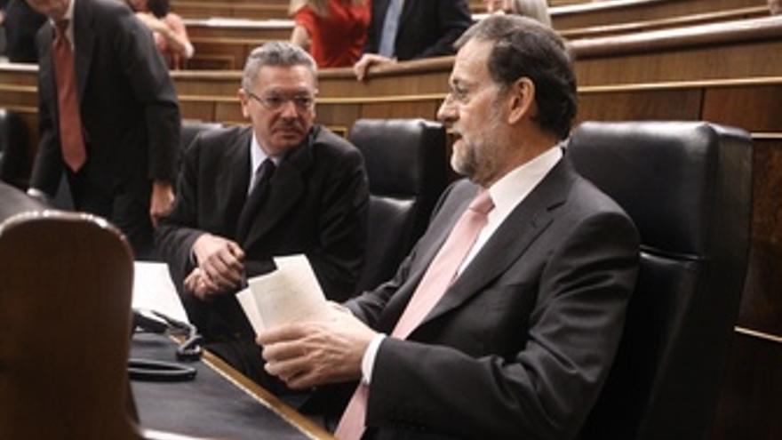 Presidente del Gobierno, Mariano Rajoy, con Alberto Ruiz Gallardón