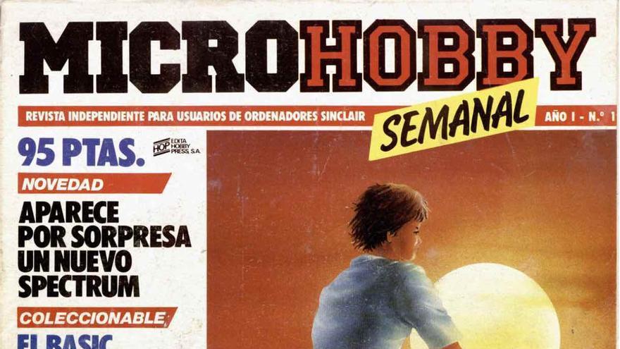 Primer número de la revista MicroHobby, publicado en noviembre de 1984