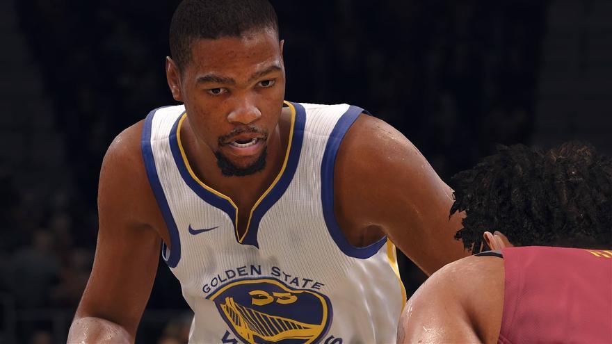 Detalle de Kevin Durant en 'NBA Live 18'
