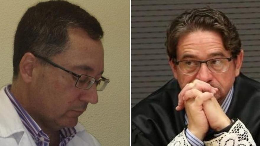 A la izquierda, el médico Sergio Hernández; a la derecha, el juez Salvador Alba.