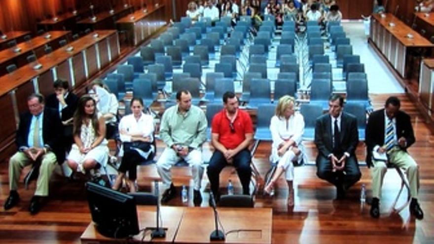 Pantoja, Muñoz y Zaldívar en el juicio